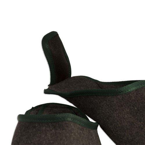 Babouches pantoufles en feutre Gris - Meliert d6saa2Al