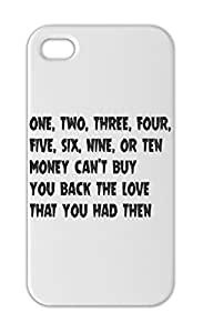 one, two, three, four, five, six, nine, or ten money can't Iphone 5-5s plastic case