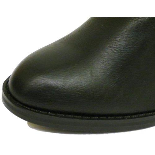 Schuhe Kn枚chel 9 Schwarz Rei脽verschluss Gr枚脽en Stiefel Buckle Biker Absatz Designer Damen Ex 3 xZ7znZ