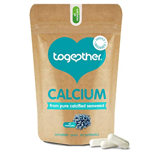 Calcium – Together Health – Seaweed-Based Calcium – 72 Trace Minerals – Vegan Friendly – Made in The UK – 60 Vegecaps