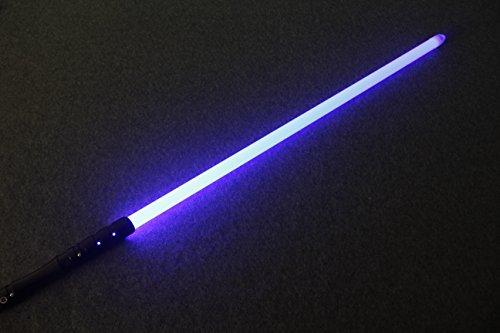 YDD Star Wars Jedi Sith LED Light Saber Force FX Lightsaber with Sound and Light, Metal Hilt, Christmas Toy for Kids (Black Hilt Blue Blade)