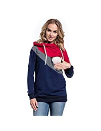VEKDONE Women's Pregnant Nursing Baby Maternity Hooded Tops Blouse Outwear Clothes