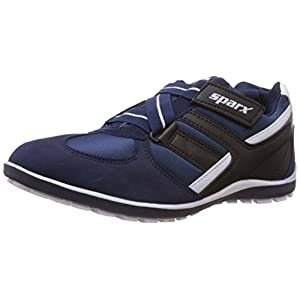 Sparx Men's Navy Blue and White Mesh Running Shoes – 10 UK (SX0202G)