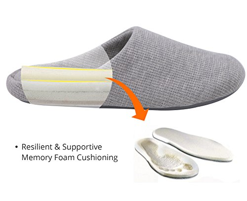 s comfort knitted cotton slippers washable flat