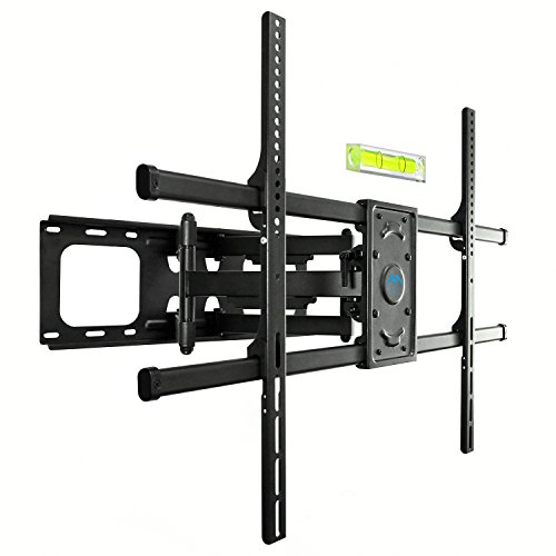 PERLESMITH TV Wall Mount Bracket Full Motion, Tilts, Swivels for most 50-90 Inch LED LCD OLED Flat Screen Plasma TVs with Dual Articulating Arms, Holds up to 165lbs VESA 800x600mm,Max Stud Spacing 24