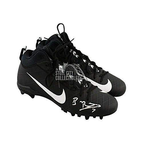 Ben Roethlisberger Autographed Signed Memorabilia Black Nike Football Cleats - Beckett Coa Ben Roethlisberger Autographed Football