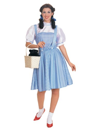 [Rubie's Costume Co Women's Wizard Of Oz Dorothy Costume, Standard(2/6), Blue/White] (Dorothy Of Oz Costumes For Adults)