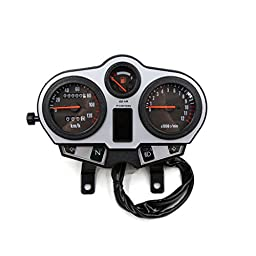 uxcell 0-12000r/min Dual Digital Odometer Tachometer Speedometer Oil Meter Gauge for ZB