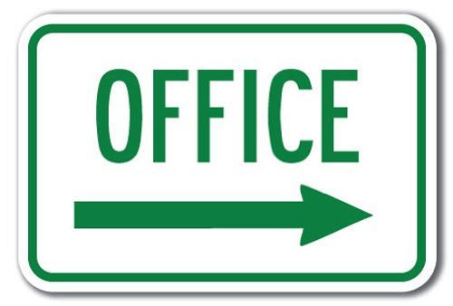 Office with right arrow Sign 12
