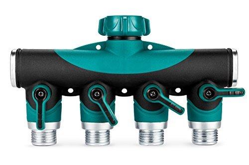 GreenYard 4 Way Garden Hose Connector| Y Hose to Hose Splitter Arthritis Friendly Watering Splitter.
