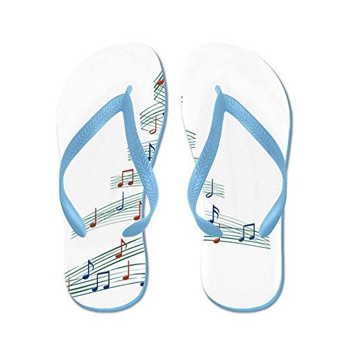 Cafepress Christmascarolmusictree - Flip Flops, Roliga Rem Sandaler, Strand Sandaler Caribbean Blue