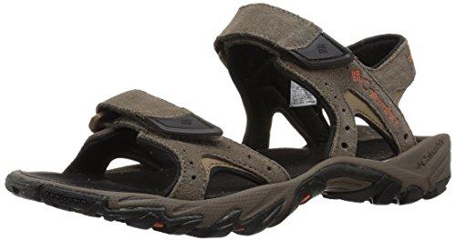 Columbia Leather (Columbia Men's Santiam 2 Strap Sport Sandal, Mud, Heatwave, 10 Regular US)