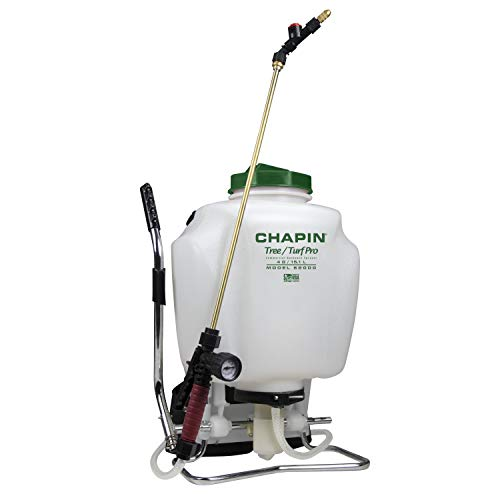 Chapin International 6-2000 Tree & Turf Pro Lawn-and-Garden-Sprayers, 4 gal, Translucent White
