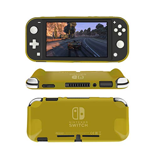 Protective Case Cover for Nintendo Switch Lite, NTCON Soft TPU Cover Case Anti-Scratch Shock-Absorption Case Cover for Nintendo Switch Lite 2019 - Yellow