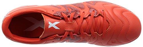 adidas X 15,3 base ball Leather Indoor scarpa uomo, (rot / orange), 9.5 UK - 44 EU
