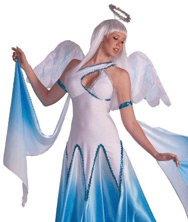 Ballroom Dancing Angel Adult Halloween Costume Size 2-6 X-Small/Small - Angel Dance Costumes