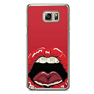 Samsung Note 5 Transparent Edge Phone Case Lips Phone Case Lust Phone Case Pattern Lips Phone Case Mouth Lips Lick Note 5 Cover with Transparent Frame