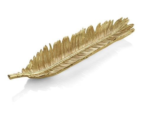 Michael Aram 175656 Palm Bread Plate, Gold