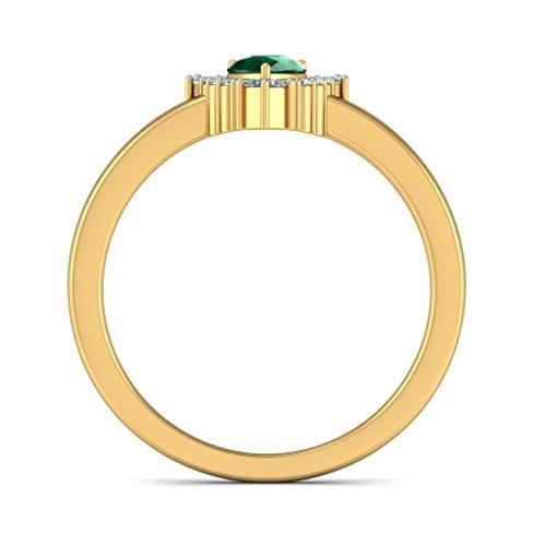 Or jaune 18K, 0,18carat Diamant Blanc (IJ | SI) Rubis et diamant Bague