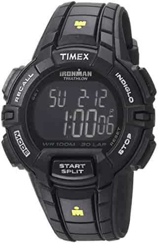 Timex Men's TW5M15900 Ironman Rugged 30 Full-Size Black/Yellow Resin Strap Watch