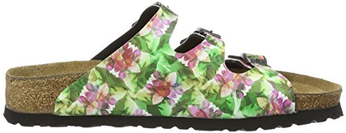 BirkenstockFlorida Birko-Flor Softfootbed - Mules Mujer Multicolor - Mehrfarbig (Caleidoscope Green)