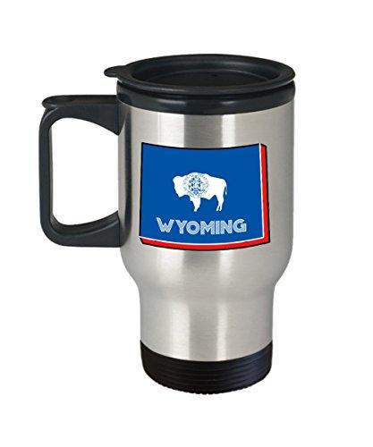 Wyoming Travel Mug - Funny Tea Hot Cocoa Coffee Insulated Tumbler - Novelty Birthday Christmas Anniversary Gag Gifts Idea
