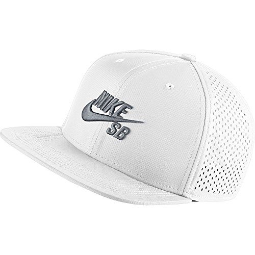 Nike Mens SB Performance Trucker Snapback Hat White/Black/Wolf - Wolf Trucker Hat