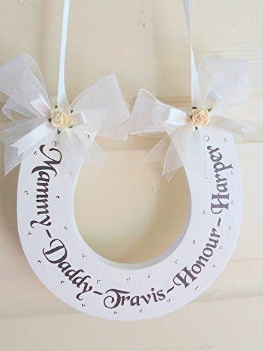 9da25959191 Personalised HANDMADE Family Wedding Horseshoe Keepsake Gift: Amazon.co.uk:  Handmade