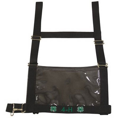 weaver leather llc 35-8103-bk Youth/Ladies, Small/Medium, Black, Show Number Harness - Bk Leather
