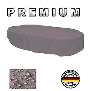 Premium–Carcasa de protectora Muebles de Jardín ovalada 140cm x 90cm x 70cm, color blanco