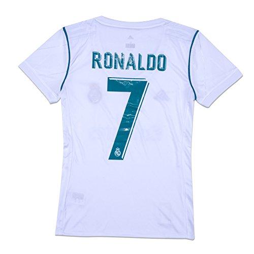 620c49975 ... Football Soccer Kids Jersey & Short & Sock & Soccer Bag Youth Sizes. #7  Ronaldo Soccer Jersey Real Madrid Home Women White Size M