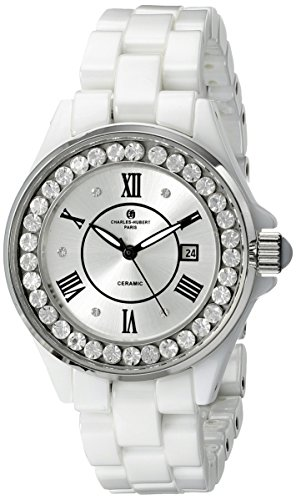 Charles-Hubert, Paris Women's 6903-W Premium Collection Analog Display Japanese Quartz White Watch