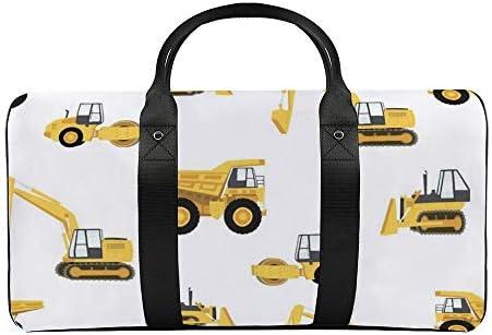 建設メドレー081 旅行バッグナイロンハンドバッグ大容量軽量多機能荷物ポーチフィットネスバッグユニセックス旅行ビジネス通勤旅行スーツケースポーチ収納バッグ