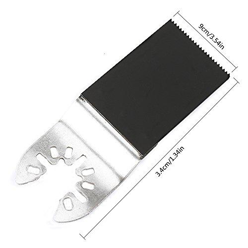 10 Pack Professional Bi-Metal Oscillating Saw Blades Nail/Metal/Wood Universal Multitool Quick Release Blade Fits Dewalt, Porter Cable,Rockwell,Makita,Black & Decker,Bosch Craftsman,F by Hotbestus (Image #4)