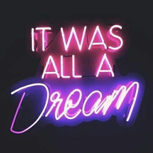 GreeneerG New It was All A Dream Pub Wall Decor Acrylic Neon Light Sign 14""