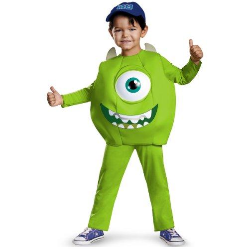 Disney Pixar Monsters University Mike Toddler Deluxe Costume, Small/2T (Mike Monsters University)