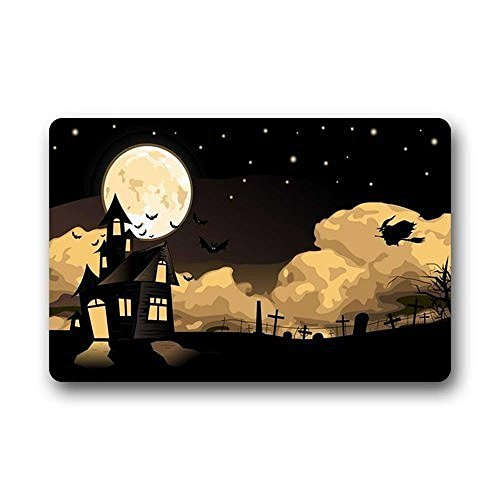Best Music Posters Halloween Pattern Machine Washable Non Slip Doormat Bathroom Kitchen Decor Area Rug/Floor Mat 23.6 X 15.7 Inch -