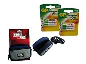 Toshiba PDR-M25 AA NiMH Rechargeable GP Battery - 4pk (2500mAh) with Wonder Case