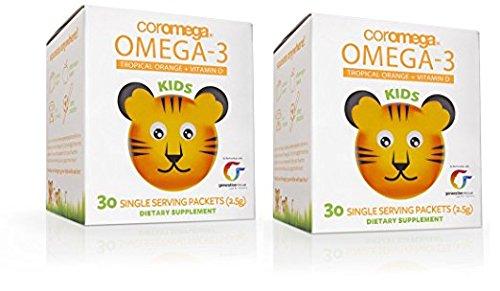 COROMEGA Kids Omega 3 Supplement, 30 Count - 2 pack