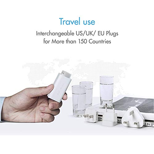 Innergie USB C Charger, 60W International Laptop Charger, World's Smallest USB-C Power Adapter with Interchangeable EU/UK Plugs, for New MacBook Pro/MacBook Air, Supports PowerDelivery USB PD [60C] by Innergie (Image #5)