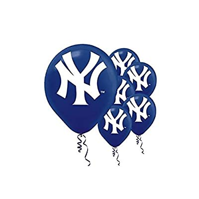"""New York Yankees Major League Baseball Collection"" Printed Latex Balloons, Party Decoration: Toys & Games"