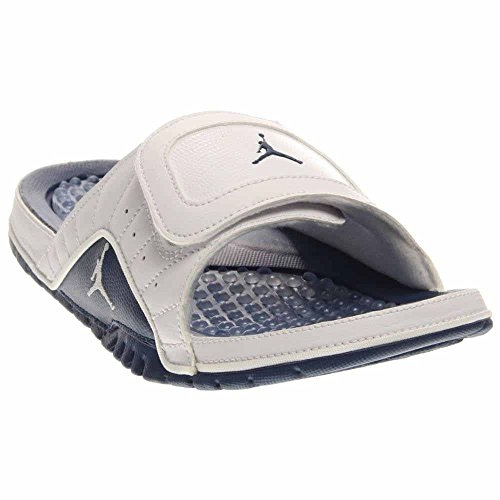 Nike Jordan Men's Hydro XII Retro White/French Blue/Varsity Red Sandal 8 Men US