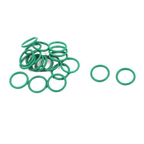DealMux 20Pcs 10 mm x 1 mm FKM nitrilo juntas tó ricas de goma resistente al calor de sellado del anillo de pasahilos verde DLM-B01N90G65O