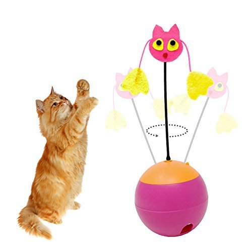 Tumbler Laser Interactive Cat Toys Balls for A Cat Kitten Toy Leakage Food Toys