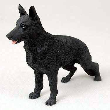 German Shepherd Dog Figurine - Black by Conversation Concepts