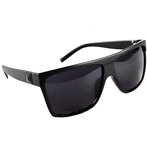 Retro Fashion Large Square Flat Top Aviator Sunglasses - Expensive Men Sunglasses