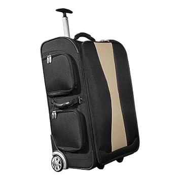 schön und charmant am besten billig komplettes Angebot an Artikeln Tchibo Reisekoffer Trolley groß in Schwarz-Beige: Amazon.de ...