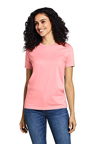Lands' End Women's Relaxed Fit Supima Cotton Crewneck Short Sleeve ()