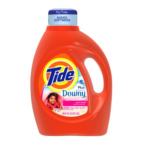 Tide With Touch Of Downy April Fresh Scent Liquid Laundry Detergent 100 Fl Oz (Pack of 4) by Tide