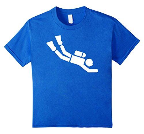 Diver Kids T-shirt (Kids Scuba diver T-Shirt 4 Royal Blue)